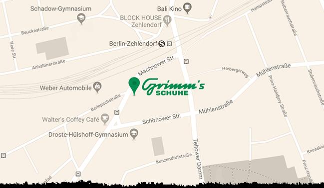 Grimms Schuhe Berlin Standort Karte